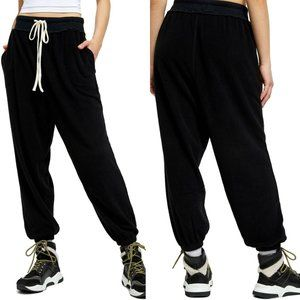 NWT Free People Slouchy Black Joggers loungewear
